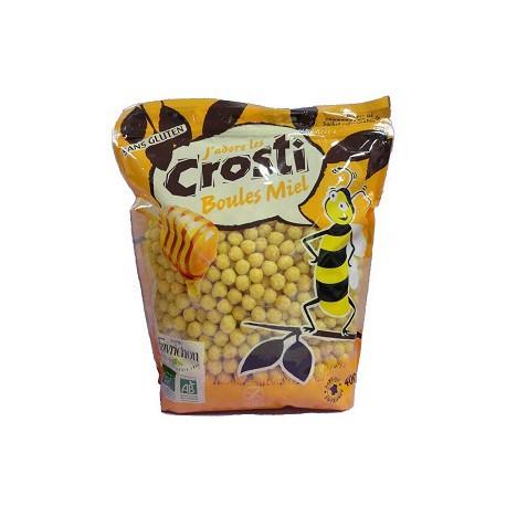 Crosti, Bolitas de maiz edulcoradas con miel, 400g, sin gluten