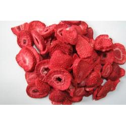 Fresas liofilizadas en rodajas