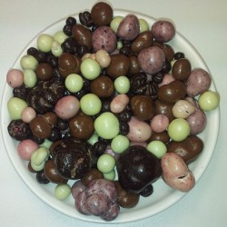 Mezcla de bayas 3 chocolates, 120 g