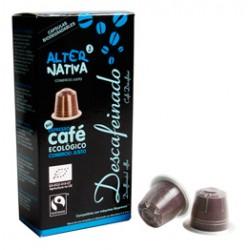 Cápsulas de Café Descafeinado BIO-FT. 10uds 5,5gr