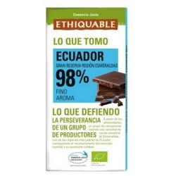 Chocolate cacao 98% BIO Ecuador 100 gr