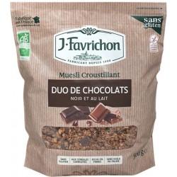 Muesli crujiente Dúo de chocolates, 500 g