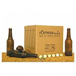 Pack 16 botellines vacios + 100 chapas