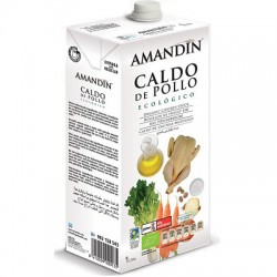 Caldo de pollo Amandin, 1 litro