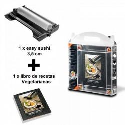 Máquina para hacer sushi 3.5 cm + libro de recetas vegetarianas