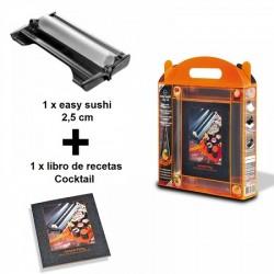 Máquina para hacer sushi 2.5 cm + libro de recetas cocktail