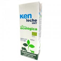 Leche semidesnatada KEN, 1 litro