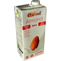 Leche de almendras natural Ecomil, 1 litro