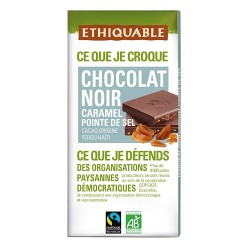 Chocolate negro caramelizado al punto de sal