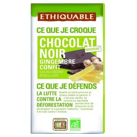 Chocolate BIO Jengibre y semillas lino 100 gr