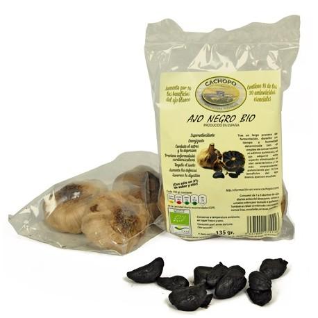 Ajo negro Cachopo, bolsa de 3 cabezas, 135 g
