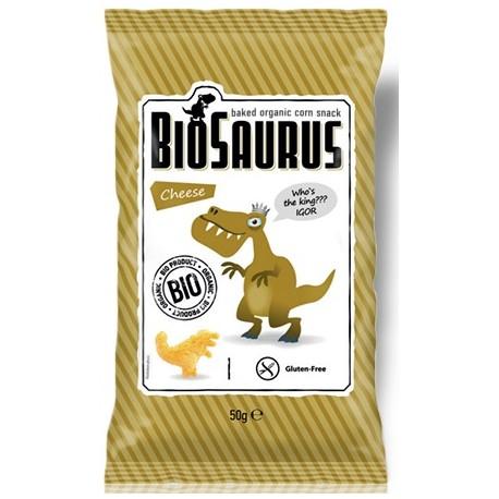 Biosaurus de maiz con sal marina, 50g