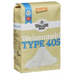 Harina de fuerza de trigo, tipo 405 Bauck, (1 kg)