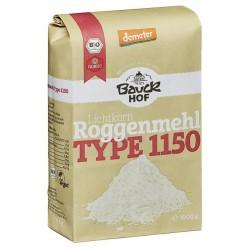 Harina semi integral de centeno tipo 1150 Bauck, 1 kg