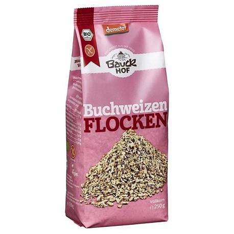 Copos de trigo sarraceno sin gluten, Bauck, 250g