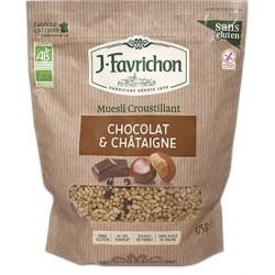 Muesli crujiente de cereales con chocolate y castañas, 500g