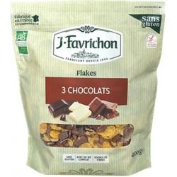 Muesli de copos de cereales a los 3 chocolates sin gluten, 400g