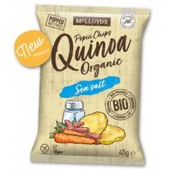 Chips de quinoa y sal POPIII, 45 g